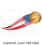 Basketball With An American Flag Trail