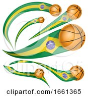 3d Brazilian Flag Basketball Banners by Domenico Condello