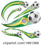 3d Brazilian Flag Soccer Ball Banners