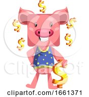 Pig With Dollar Sign
