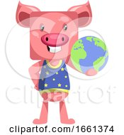 Pig With Planet Earth