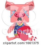 Pig With Broken Heart