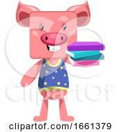 Pig With Books