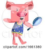 Pig With Magnifying Glass