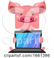 Pig With Lap Top by Morphart Creations