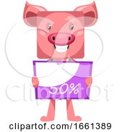 Pig With Sale Sign