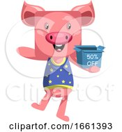 Pig With Sale Box