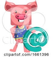 Pig With An Email Sign by Morphart Creations