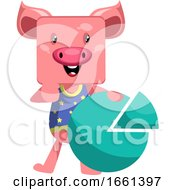 Pig With Analytic Sign by Morphart Creations