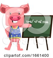 Pig With Blackboard by Morphart Creations