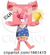 Pig With Lighting Bulb