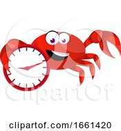 Crab With Clock