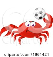 Crab With Football Ball