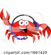 Crab With Headphones