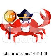 Crab In Police Uniform