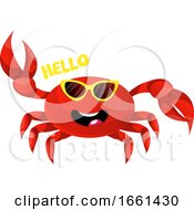 Crab With Yellow Glasses