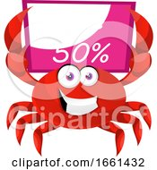 Crab With Sale Board