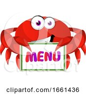 Crab With Menu Sign by Morphart Creations