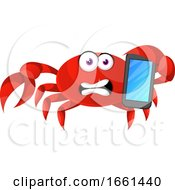 Crab With Mobile Phone by Morphart Creations