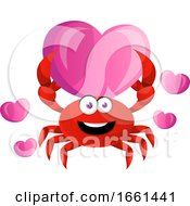 Poster, Art Print Of Crab Holding Big Heart