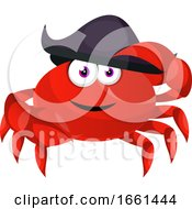 Crab With Pirate Hat by Morphart Creations