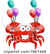 Crab With Balloons
