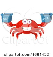 Crab With Sale Box
