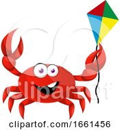Poster, Art Print Of Crab With Flying Kite