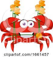 Crab With Flowers