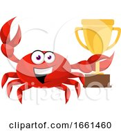 Crab Holding Trophy by Morphart Creations