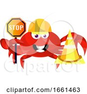 Crab With Stop Sign