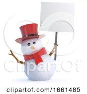 3d Posh Snowman Placard
