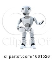 3d Robot Drinking A Cup Of Coffee