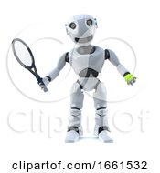 3d Robot Plays Tennis