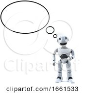 3d Robot Is Thinking