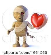 Poster, Art Print Of 3d Egyptian Mummy Monster Is In Love
