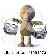 3d Mummy Monster Goes Shopping