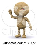 3d Egyptian Mummy Waves Hello by Steve Young