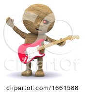 Poster, Art Print Of 3d Egyptian Mummy Plays Guitar