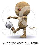 3d Mummy Kick A Football by Steve Young