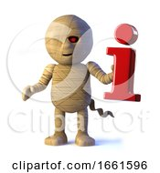 3d Egyptian Mummy Monster Has Information by Steve Young