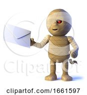 3d Egyptian Mummy Monster Has Mail by Steve Young