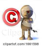 3d Egyptian Mummy Monster Has A Copyright Symbol by Steve Young
