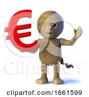 3d Egyptian Mummy Monster Has Euro Currency by Steve Young