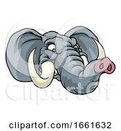 08/03/2019 - Angry Elephant Cartoon Animal Sports Mascot