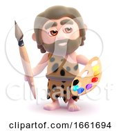 Poster, Art Print Of 3d Caveman Is An Artist