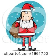 Cartoon Santa Claus In The Snow
