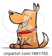 Cartoon Good Dog Sitting