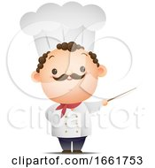 Male Chef Using A Pointer Stick