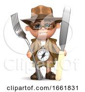 3d Explorer Ready For Dinner